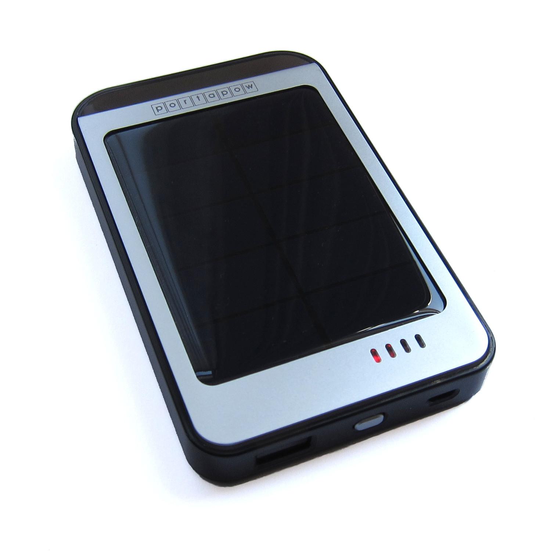 Portapow Solar USB Battery Pack Lightning Emergency External Backup ...